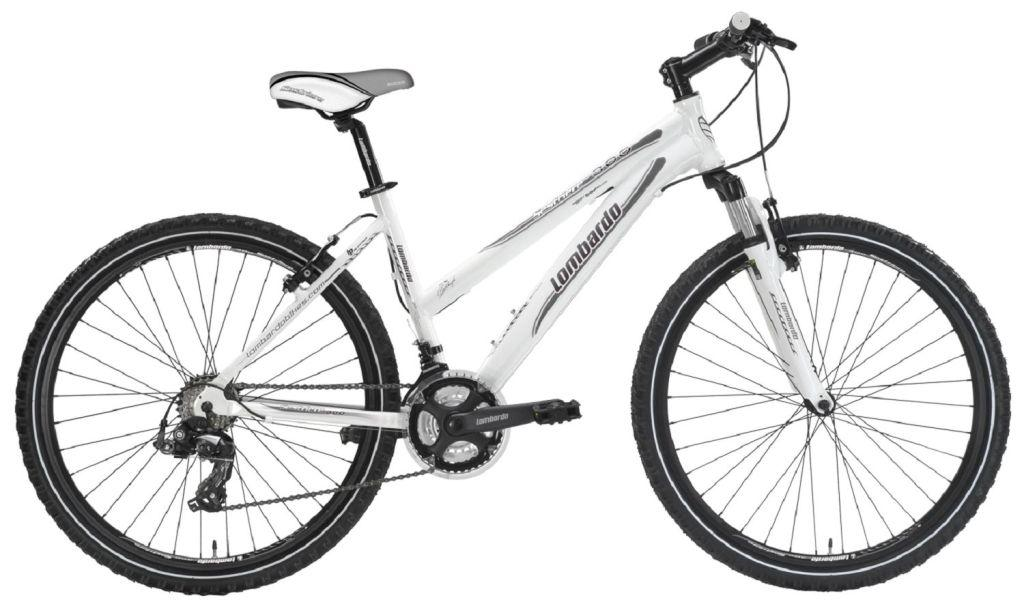 Mountainbike: MTB Sestriere 300 MTB Dame 26 inch, 21 versnellingen, kleur Wit-Antraciet